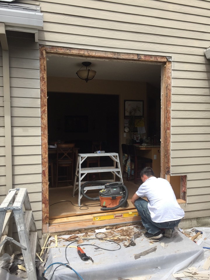 Sherwood, OR - Putting in a sliding door