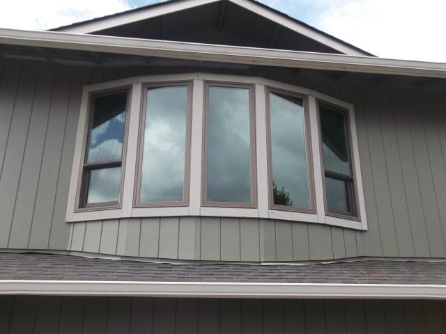 Springfield, OR - 10 windows total. Replacing windows in 2 bow configurations on front of house. There is currently brick under the living room bow.