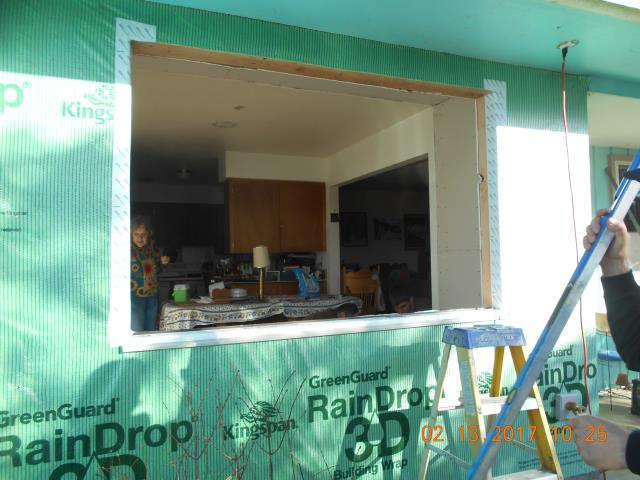 Albany, OR - Getting ready to install a large picture window.