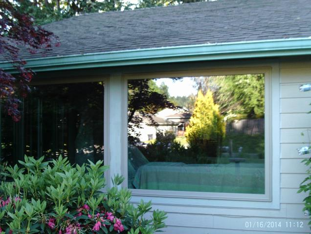 Corvallis, OR -  Replacing 2 large picture windows and 4 large gliders. Sandtone/Sandtone.