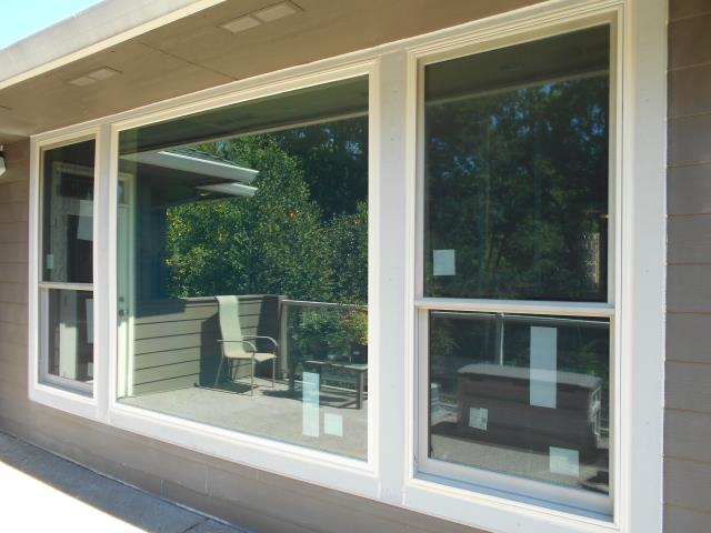 Camas, WA - 7 windows total. Windows all canvas/canvas distressed nickel hardware and truscene screens.