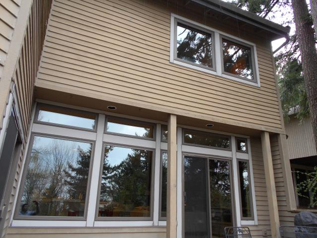 Lake Oswego, OR - Nine windows total installed. Terratone. Stone Albany Hardware. This is the 3rd and final phase of the project.