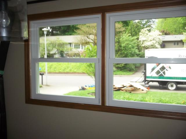 Lake Oswego, OR - 12 windows installed. All white/white, windows standard hardware in white, door Newbury in bushed chrome.