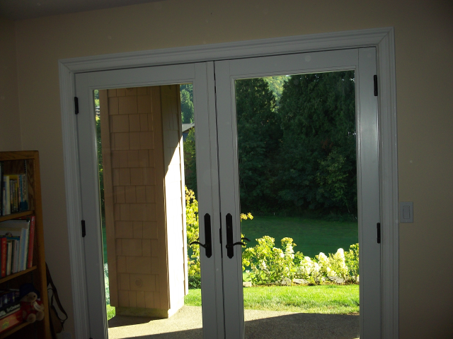 Gresham, OR - 2 patio doors replaced. Frenchwood inswing doors.