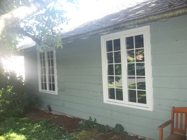 Gresham, OR - Replacing 1 Triple Casement, 2 Double Casements. White interior/exterior.