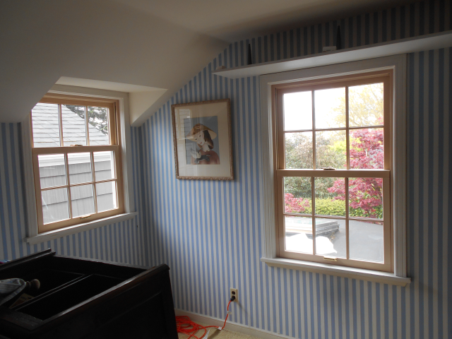 Portland, OR - Replaced 7 wood double hung windows with Fibrex windows white exterior/pine interior.