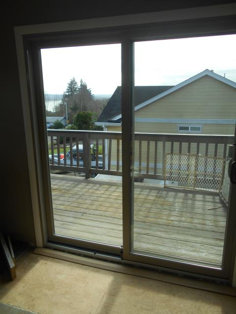 Columbia City, OR - Look at this lovely upper deck patio door we installed for this home.