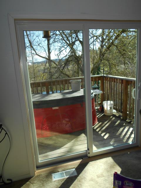 Milwaukie, OR - We installed 2 patio doors and 1 customized window for this home!