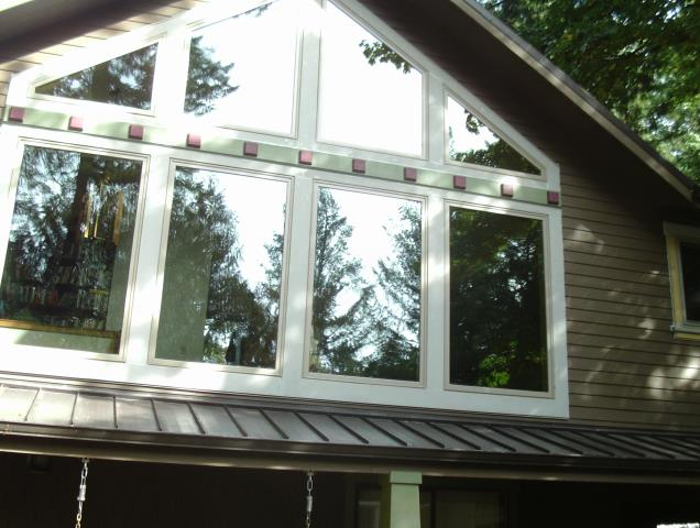 Lyons, OR - We replace 11 specialty, custom, and gorgeous replacement windows for this home!