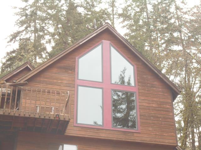 Monroe, OR - We installed 4 customized windows for this home!