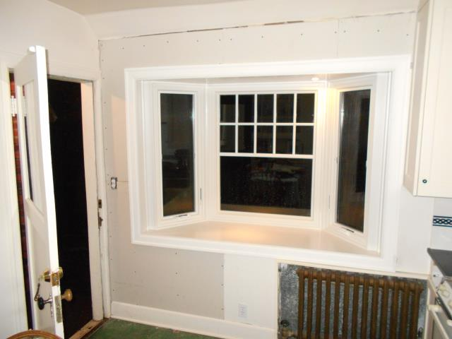We installed a beautiful new kitchen nook with a Bay Window for this lovely home in Portland!
