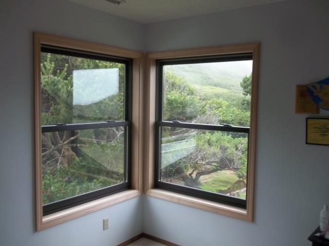 We installed 2 replacement windows in this sweet Newport home!
