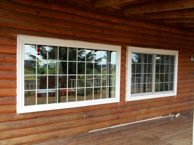 Junction City, OR - We did a full replacement for this gorgeous cabin in Junction City with a 18 window replacement project!