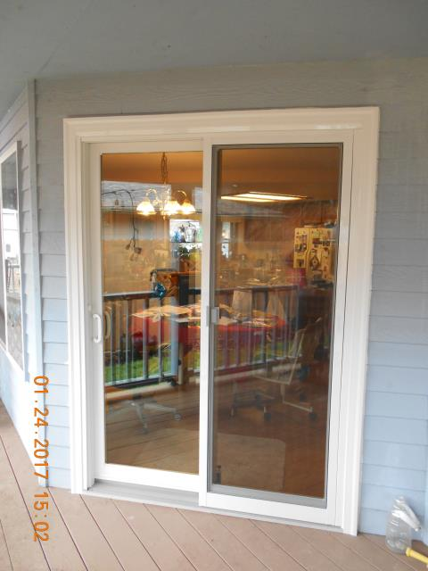 Vancouver, WA - We installed a replacement sliding glass door for this home in Vancouver!