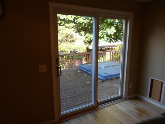 Beaverton, OR - We installed a lovely new sliding glass patio door for this great place!