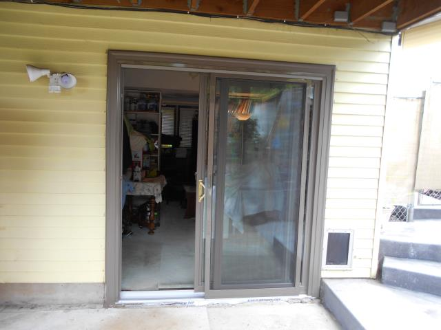 We installed a replacement sliding glass door for this home with fine detail in the handle.