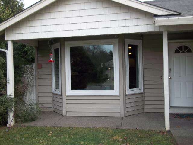 Monroe, OR - We have enjoyed coming back to this home and slowly helping their window replacement remodel for different phases. We installed 3 replacement windows for their front area in this lovely home in Monroe, Oregon!