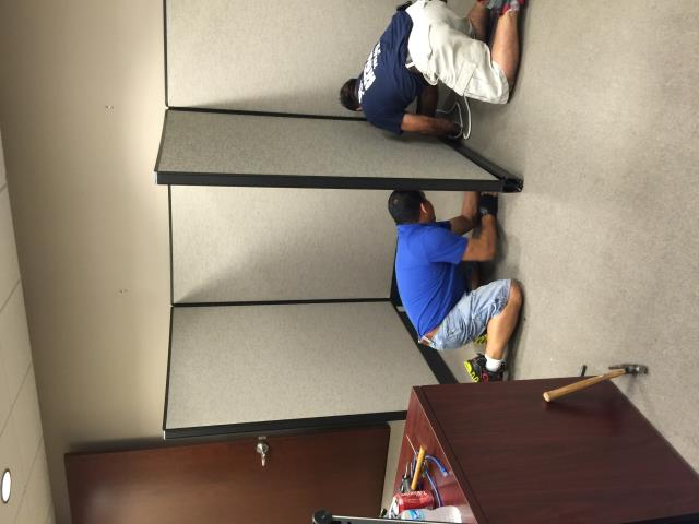 Herndon, VA - Our GUys providing disassembly of workstations today at an office.