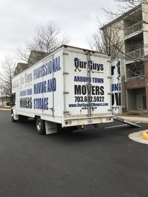 Arlington, VA - Our Guys providing a local garden style apartment move with stairs.