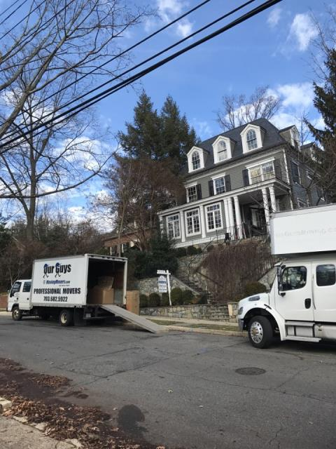 Edgewater, MD - Our Guys providing a local move with 2 trucks today.