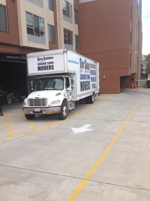 Kilmarnock, VA - Our Guys unloading an intrastate shipment into a storage building