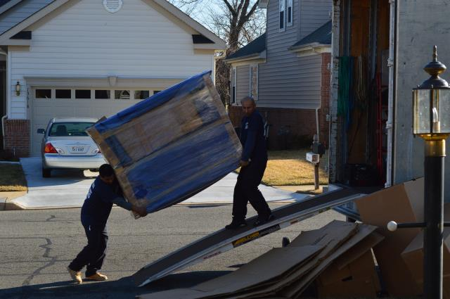 Herndon, VA - Loading furniture into a truck
