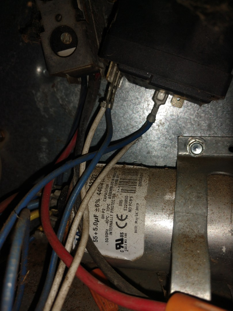 Replace dual capacitor on 16 yr old R22 air conditioner.