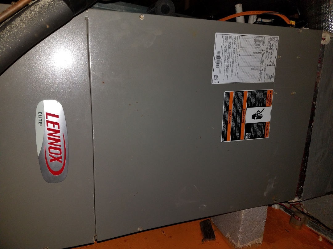 Performing ac cooling maintenance on Lennox air handler in Prattville