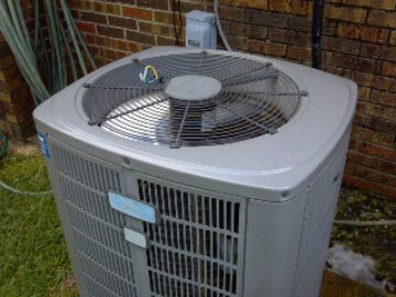Preventive maintenance on american standard heat pump.