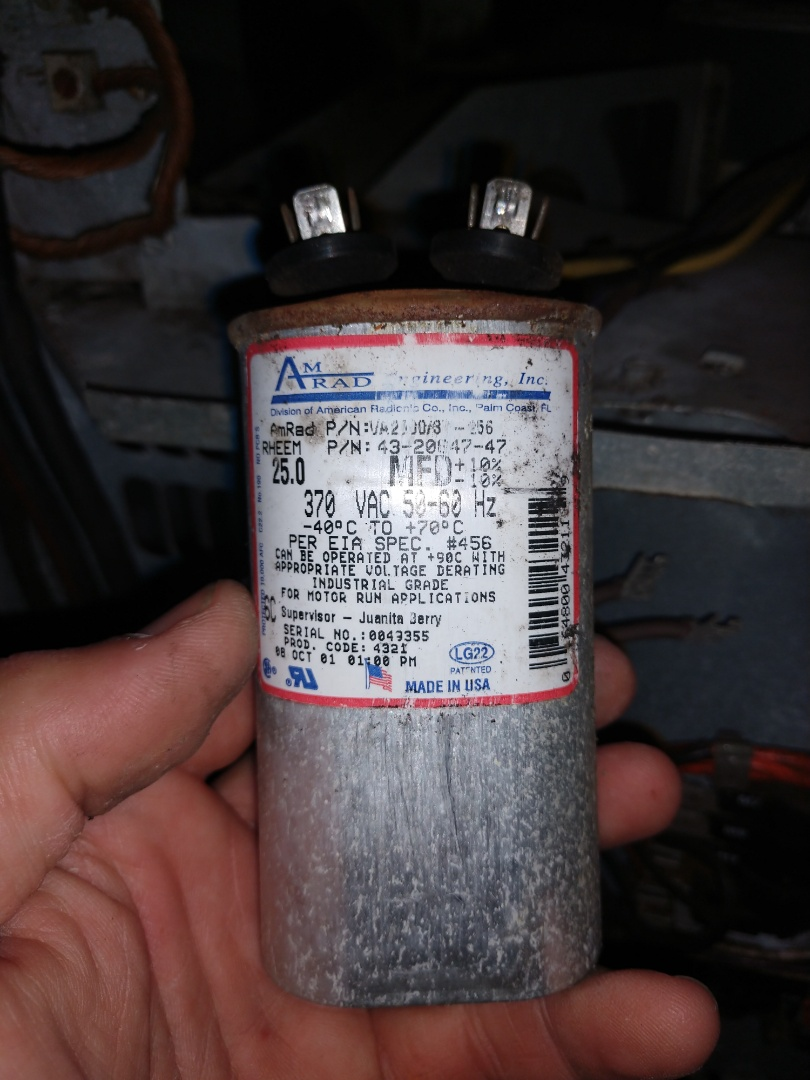 Pike Road, AL - Replace blown capacitor on blower.