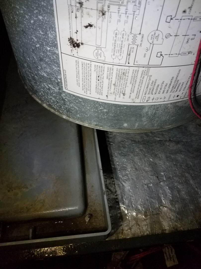Water flooding system due to dirty coil