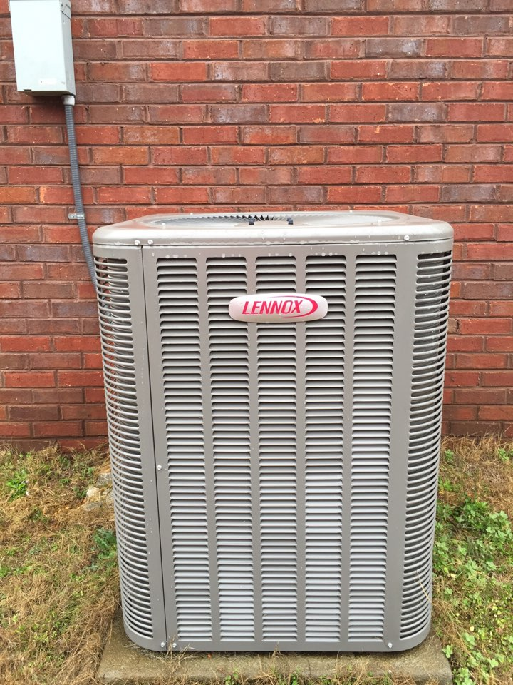 maintenance done on a Lennox Heatpump