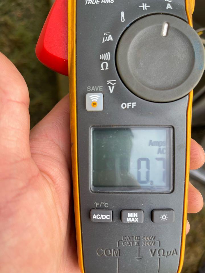 Checking fan amperage after replacing weak dual capacitor