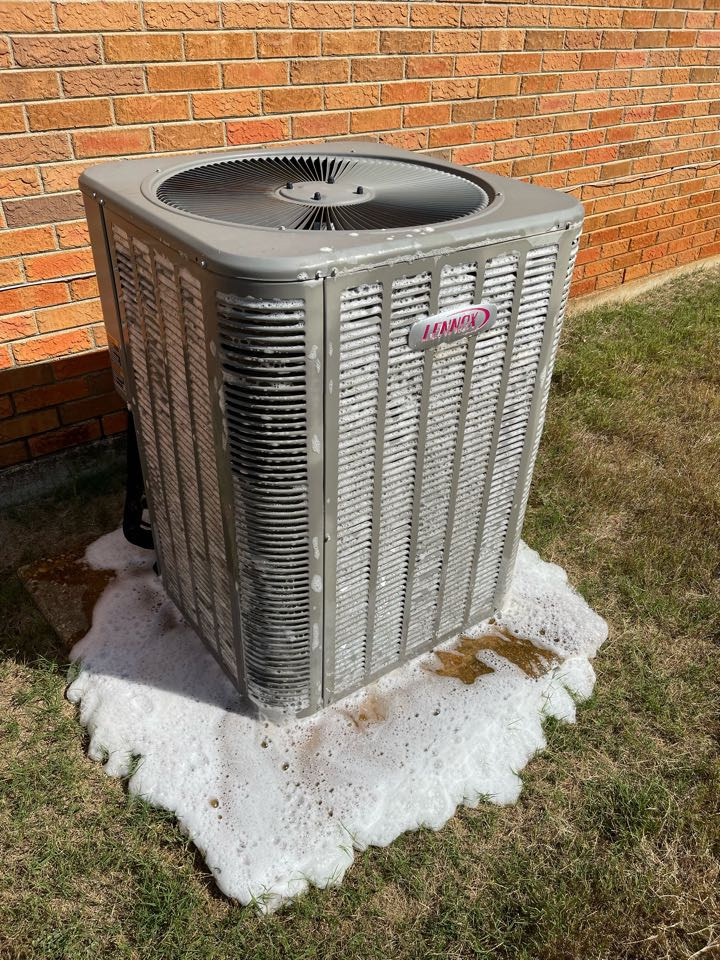 Cleaning outdoor coil during routine heating and cooling maintenance