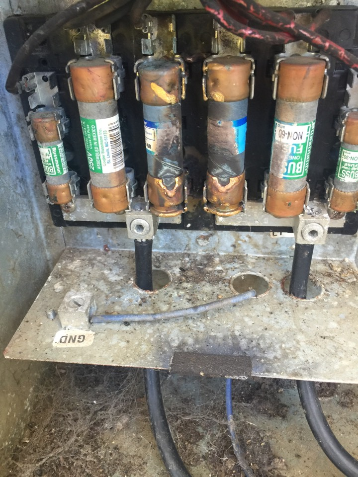 maintenance done found fuses burned