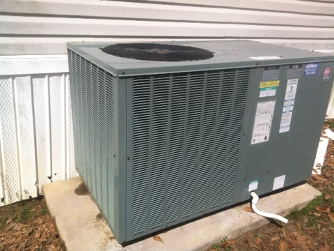 maintenance done on a rudd heatpumpbpackage unit