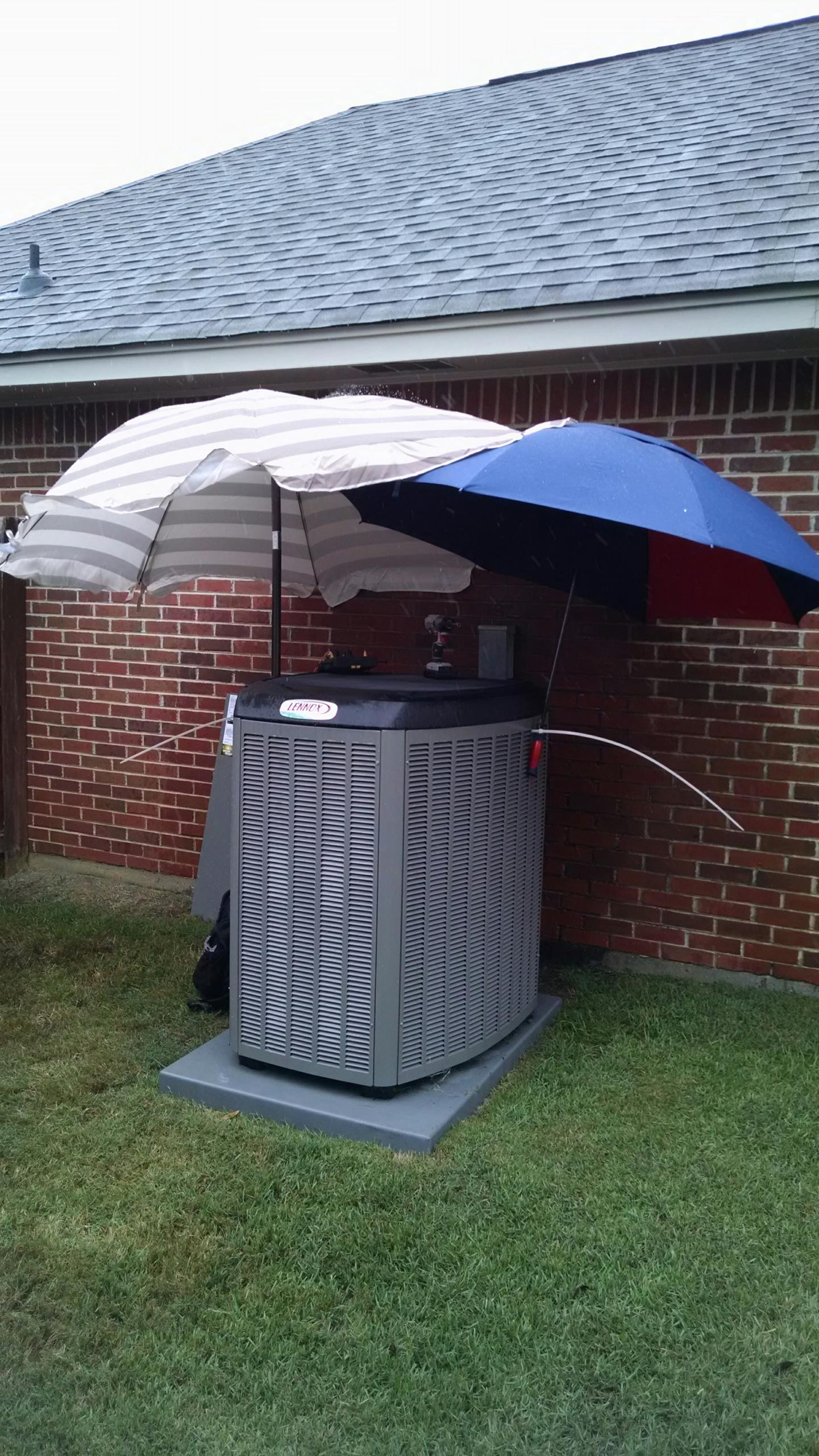 Prattville, AL - Checking out a heat pump in a Tropical Storm