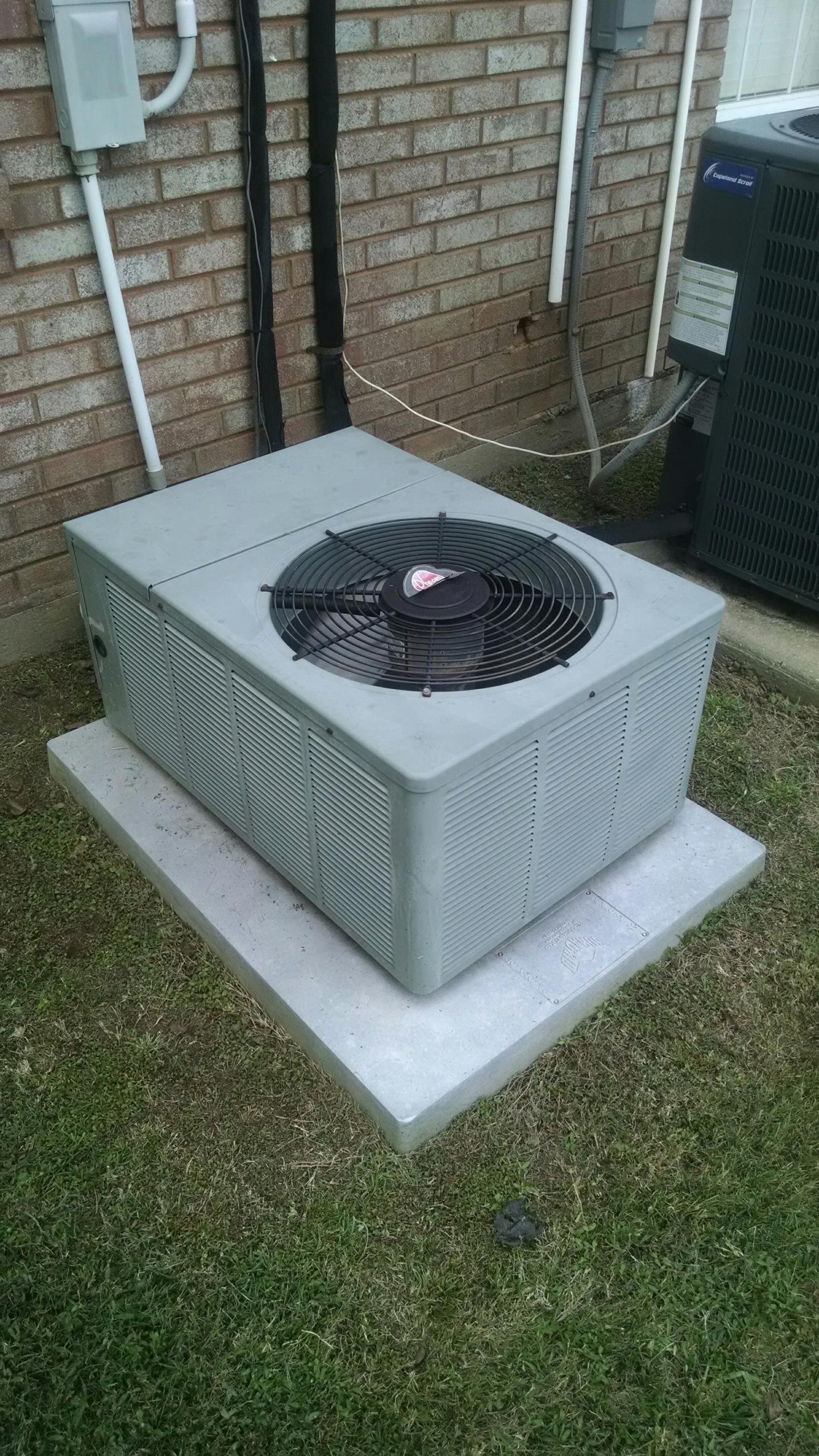 Montgomery, AL - Freon leak search on 11 yr old R22 Rheem heat pump air conditioner RAKB-018JAZ