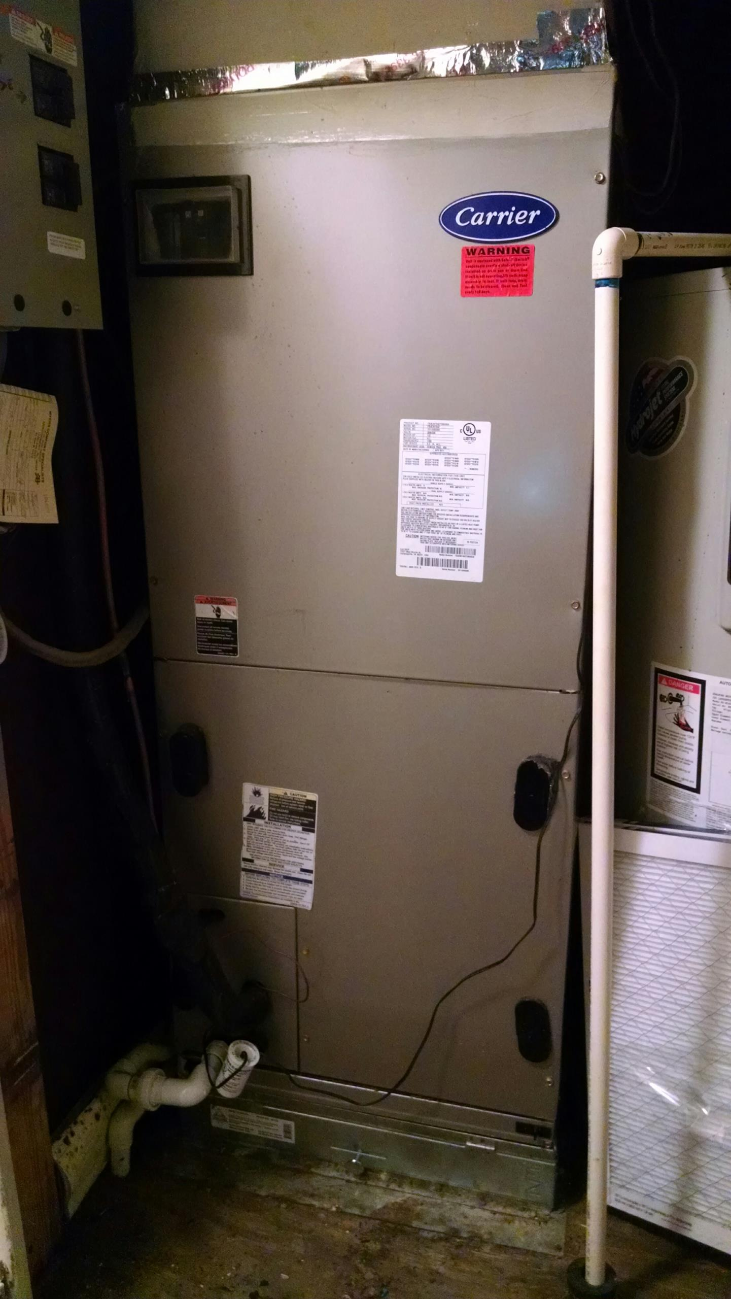 Montgomery, AL - Fall checkup on 6 years old R22 Carrier air conditioner heat pump