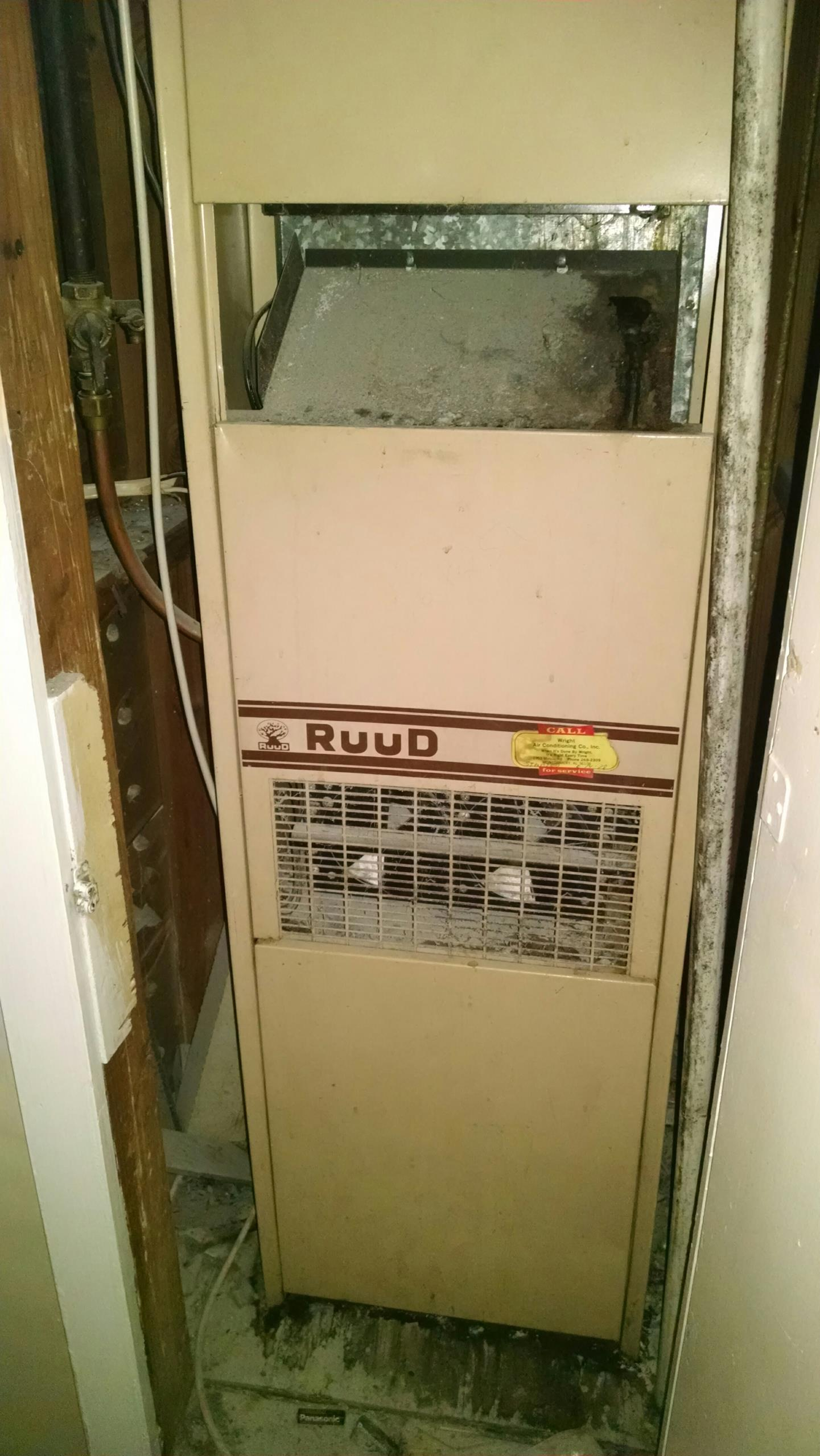 Montgomery, AL - Super tune up inspection on 39 yr old Ruud furnace and AC UGAA-080C R22 Freon