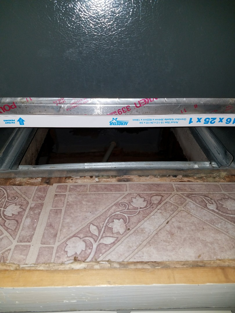 Coosada, AL - Checking filter on goodman gas furnace during air conditioning maintenance/ Coosada, AL
