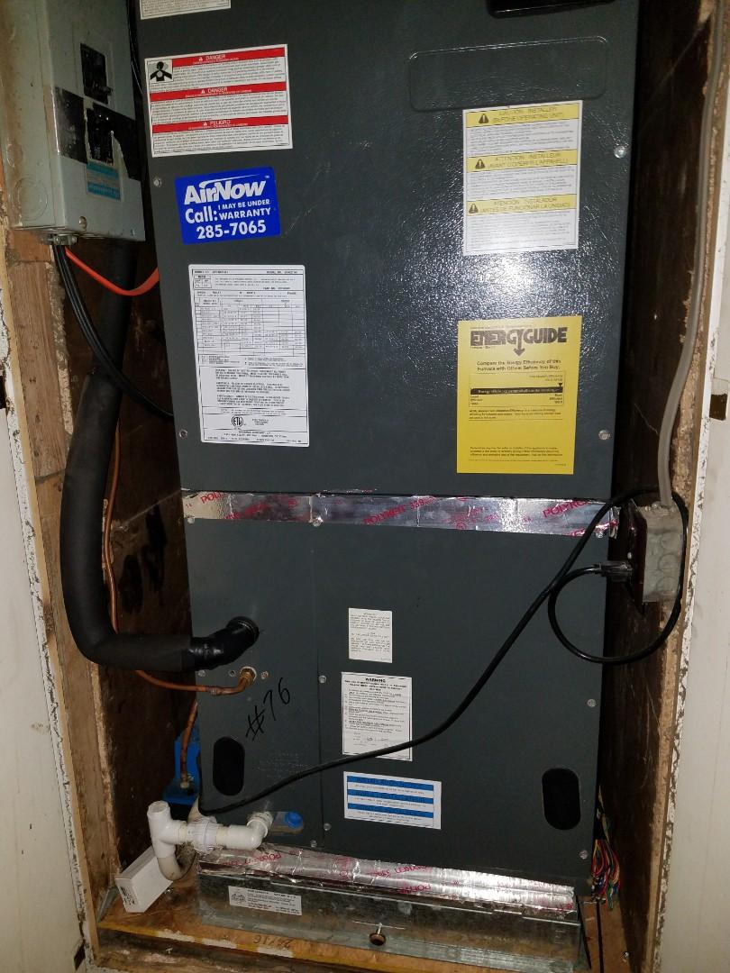 Goodman air handler routine air conditioning maintenance in Montgomery