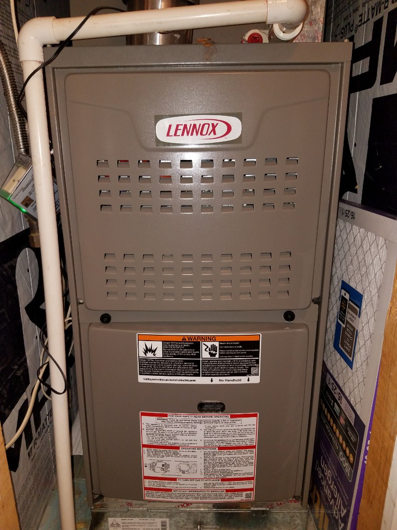 Lennox gas furnace air conditioning maintenance in Millbrook