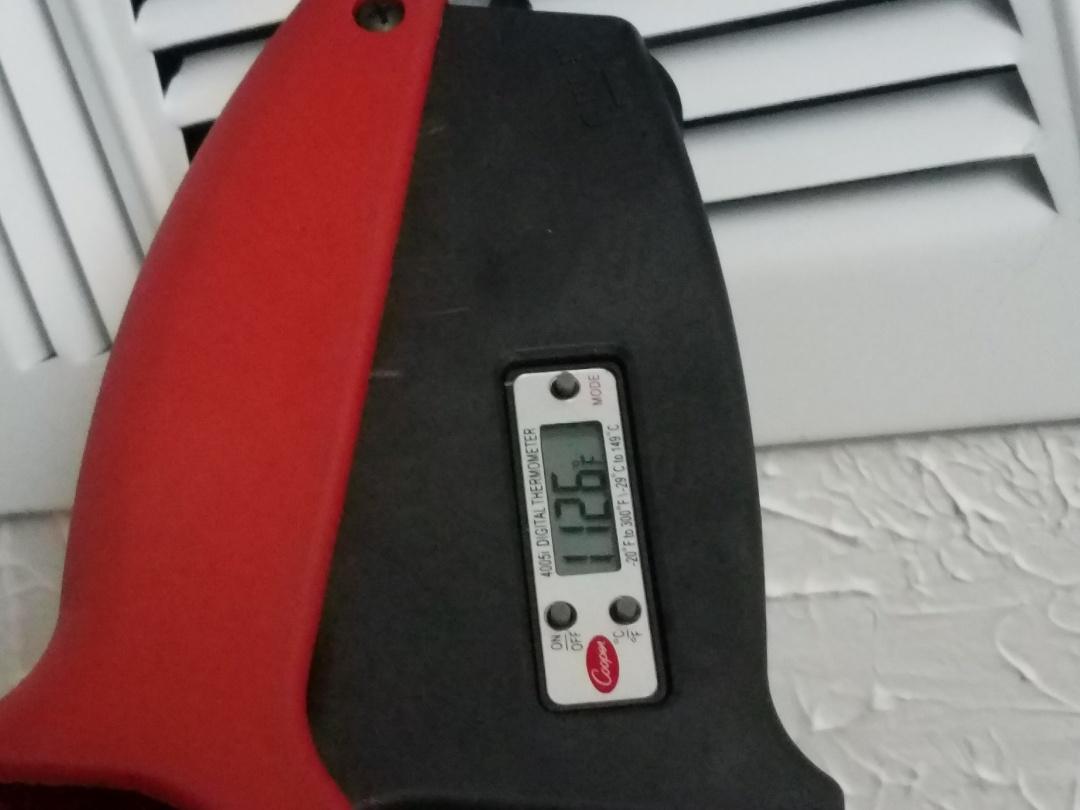 Prattville, AL - Checking delta T during Lennox heating maintenance