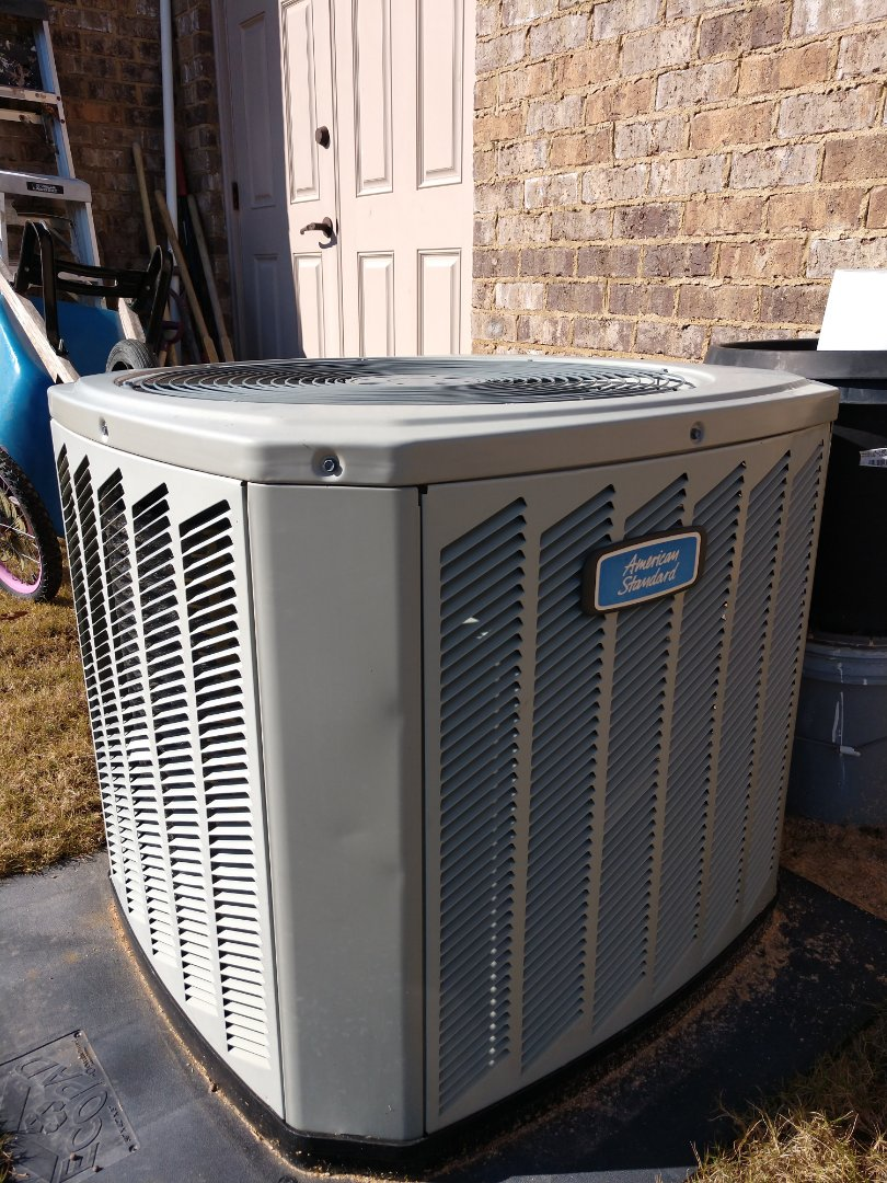 Pike Road, AL - Winter check-up times 3 on American standard 95% efficient furnaces and air conditioners