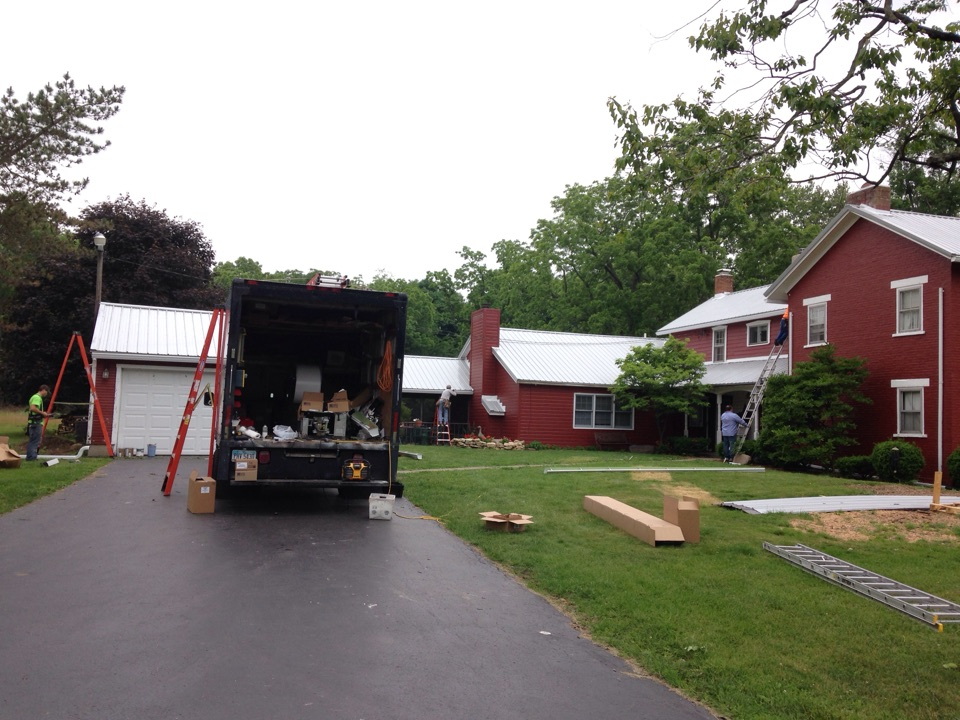 "Clayton, OH - Installed 6"" gutters on farm house and barn."