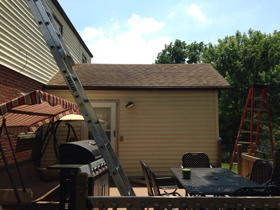 Miamisburg, OH - Small gutter job Derek sold in miamisburg