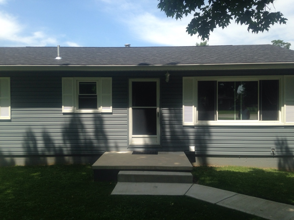 Springfield, OH - Roof siding gutters and a new concrete driveway