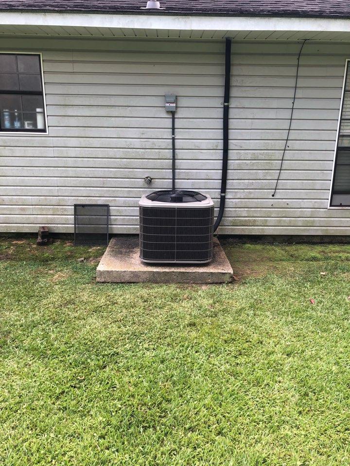 Denham Springs, LA - Installed heat pump system