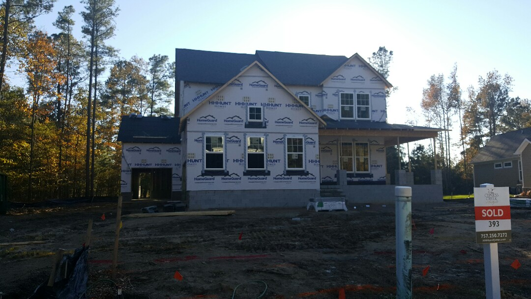 Smithfield, VA - Performing an energy inspection on a new construction house for Code Compliance.
